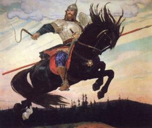 Картина Васнецова «Богатырский скок»